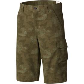Columbia Silver Ridge Pantaloncini stampati Ragazzo, verde oliva